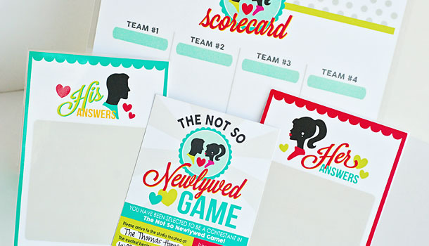 Not So Newlywed Game Free Printables