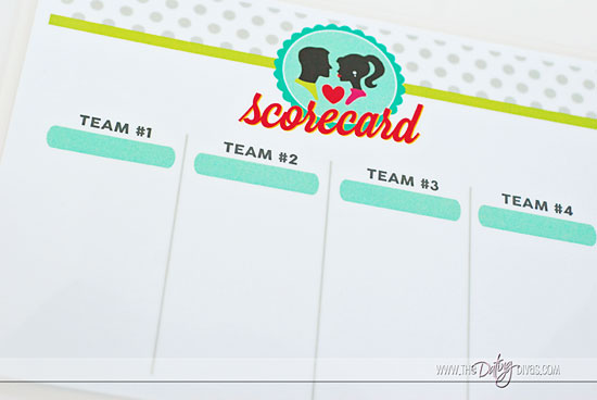 Not So Newlywed Game Free Printable scorecard