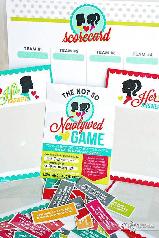 Not So Newlywed Game date night idea with Free Printable