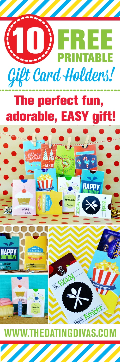 DIY Free Gift Card Envelopes For Christmas Birthdays And More