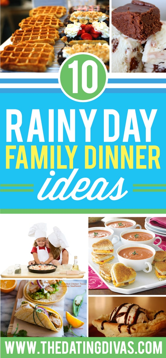 Rainy Day Indoor Activities & Dinner Ideas