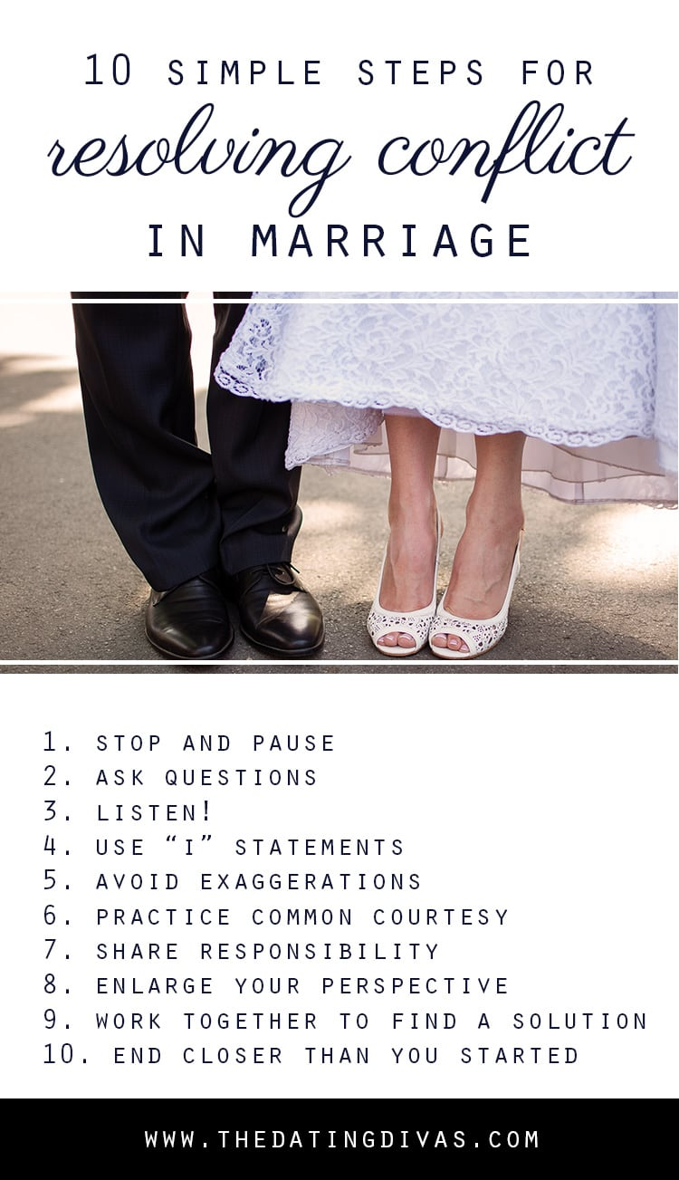 10 Simple Steps for Resolving Conflict in Marriage