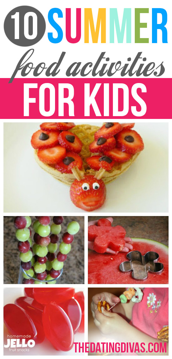 Summer Boredom Busters and Food Activities for Kids