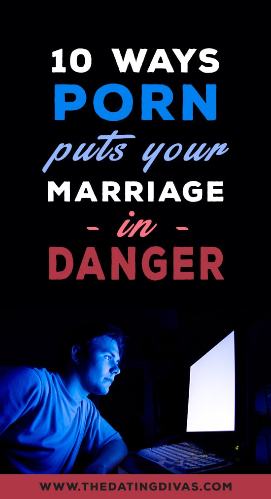 10 Ways Porn Puts Your Marriage in Danger banner with man looking at computer screen