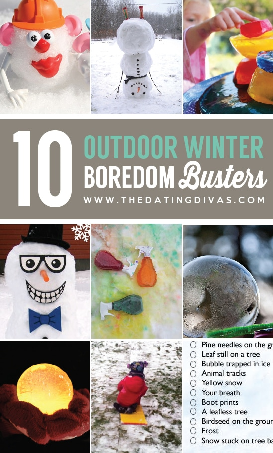10 Winter Outdoor Boredom Busters