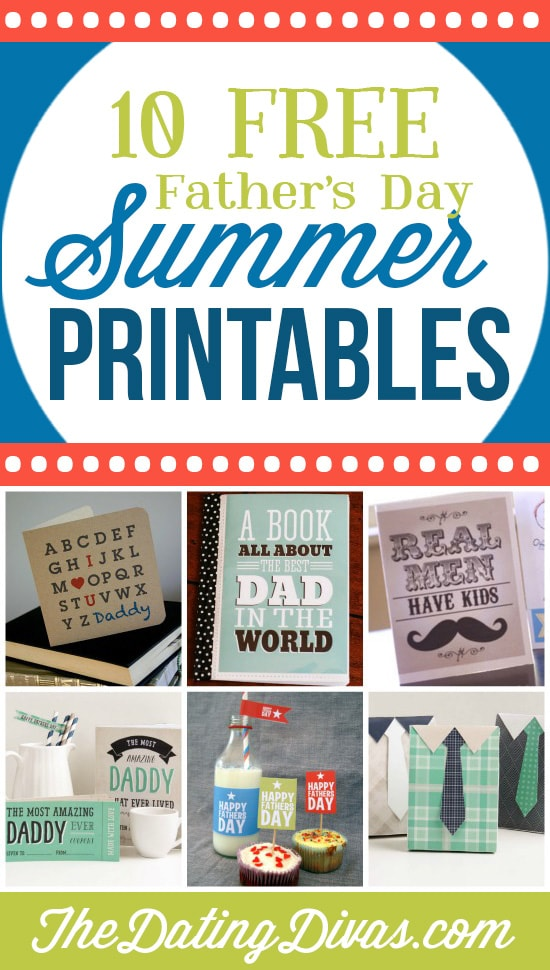 10 Amazing Father's Day Free Printables