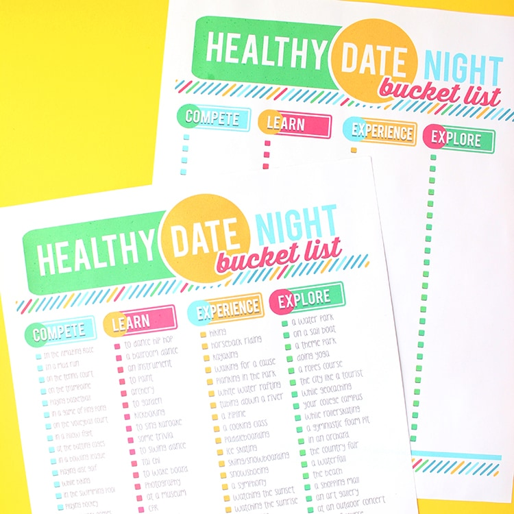 100 Healthy Date Night Ideas