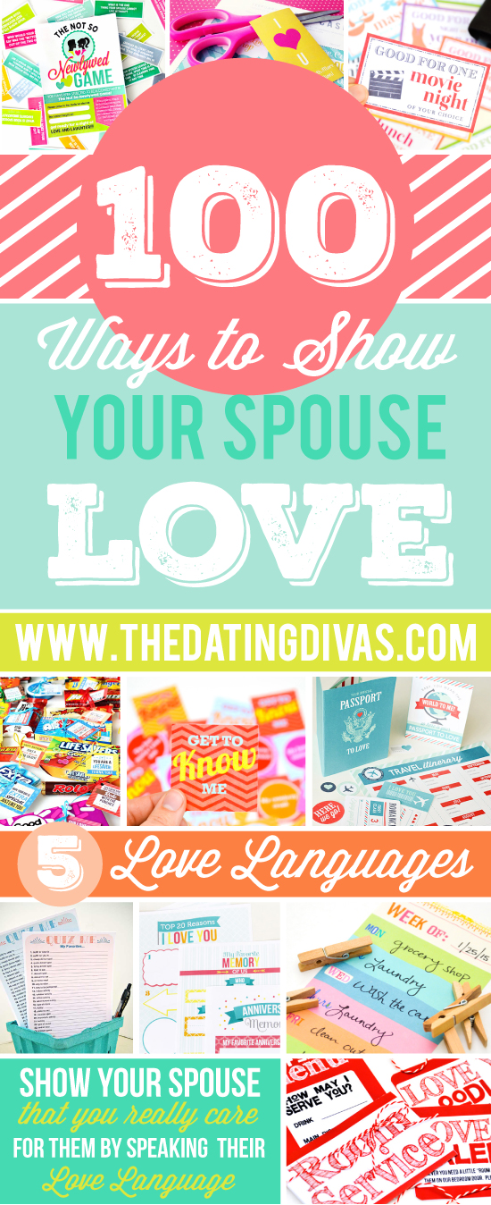 Love your spouse a little extra today in their love language!