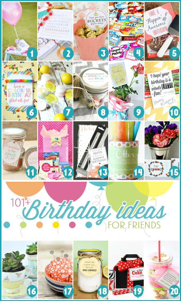 101 Birthday Ideas For Friends 1