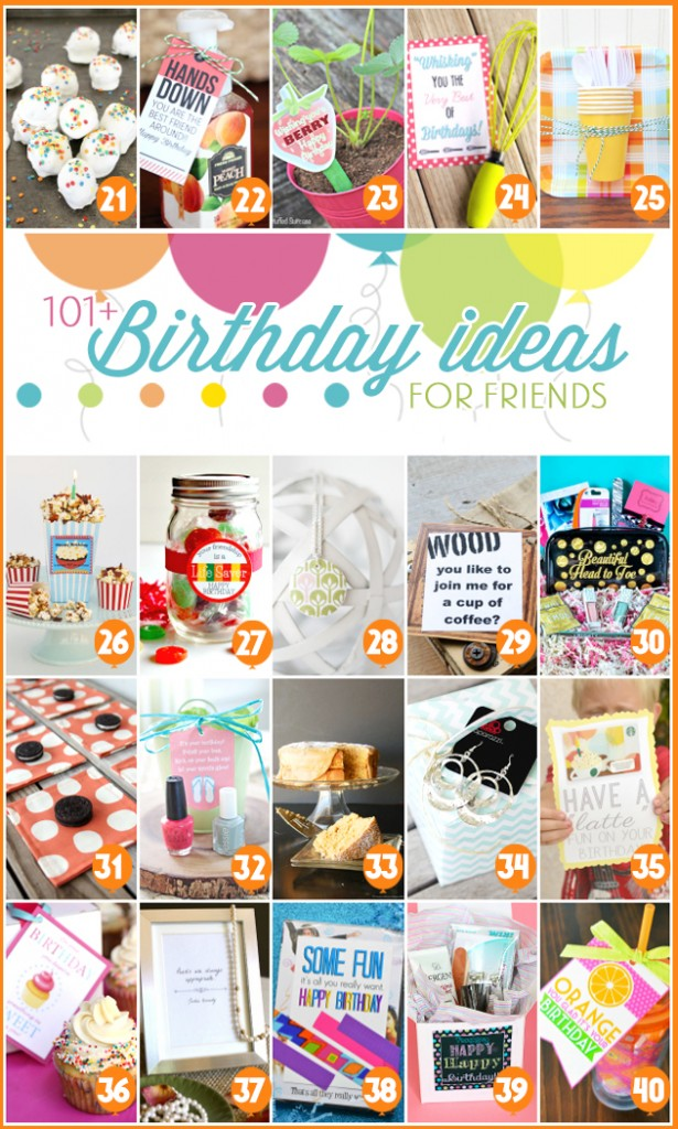 101 Birthday Ideas for Friends 2