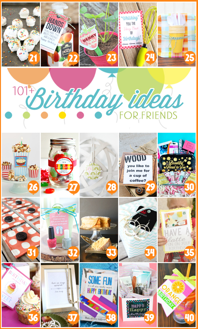 101 creative inexpensive birthday gift ideas Easy gift ideas for friends