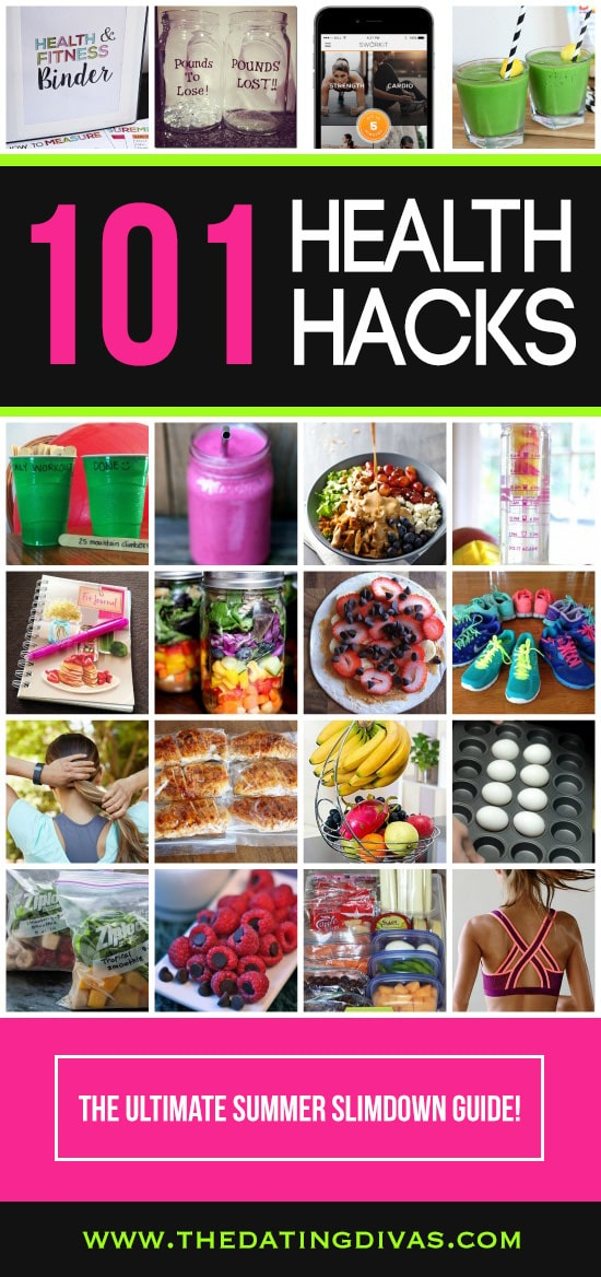 101 Health Hacks- The ULTIMATE Summer Slimdown Guide