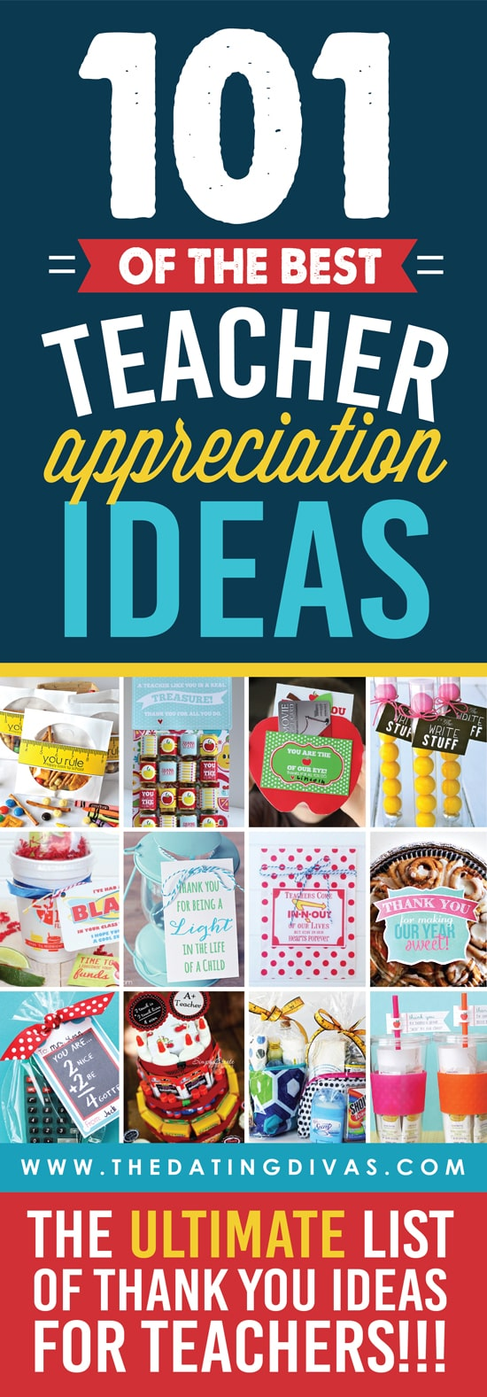 The ULTIMATE list of teacher appreciation gifts and ideas!