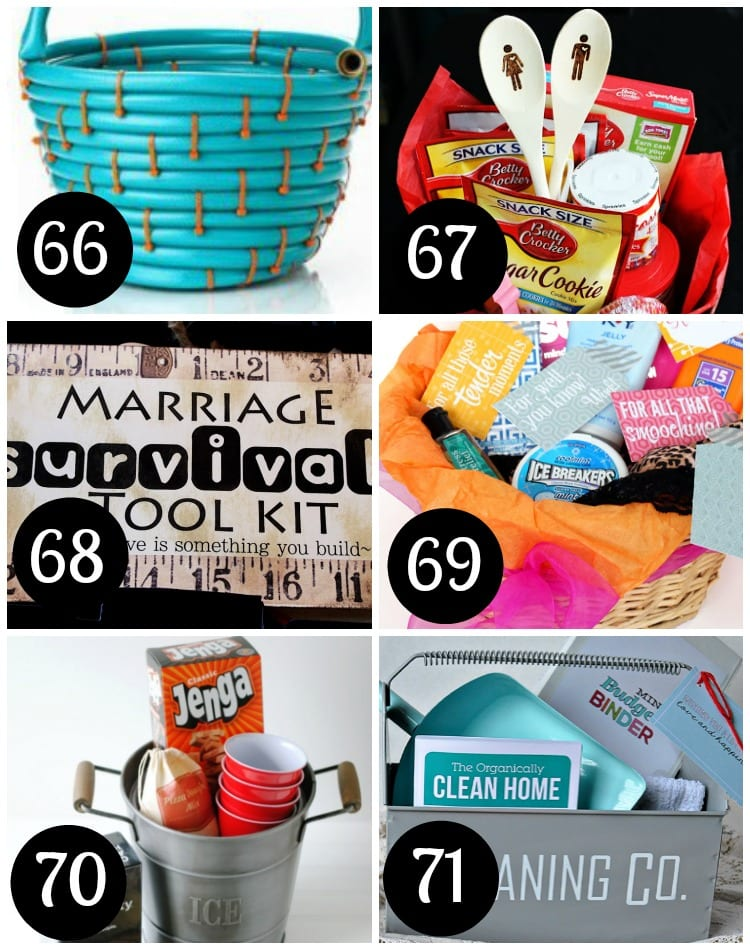 Gift baskets for newly weds!