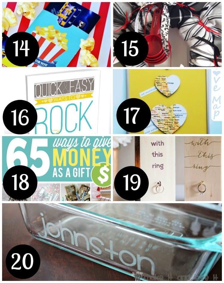 Fabulous DIY gift ideas for weddings!