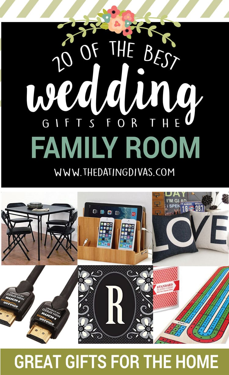 20 of the BEST wedding gifts for the family room.