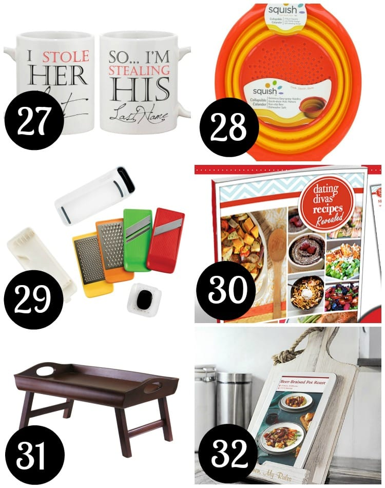 Kitchen supplies are essential to a new marriage - great gift ideas!