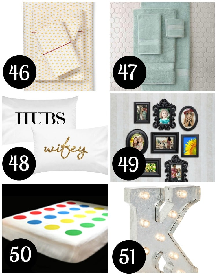 Gift ideas for newly weds' bed and bath!