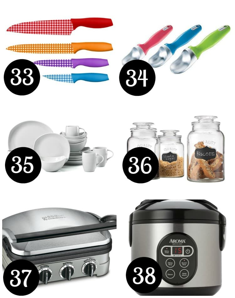 Kitchen tools to give as wedding gifts.
