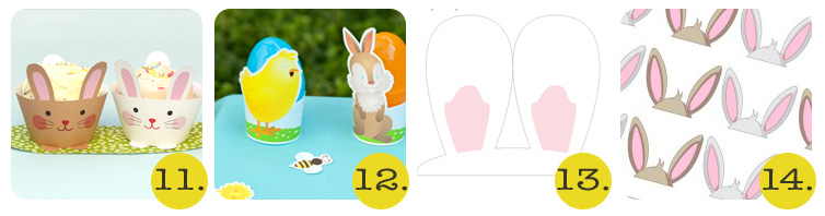 Easter bunny ear printables