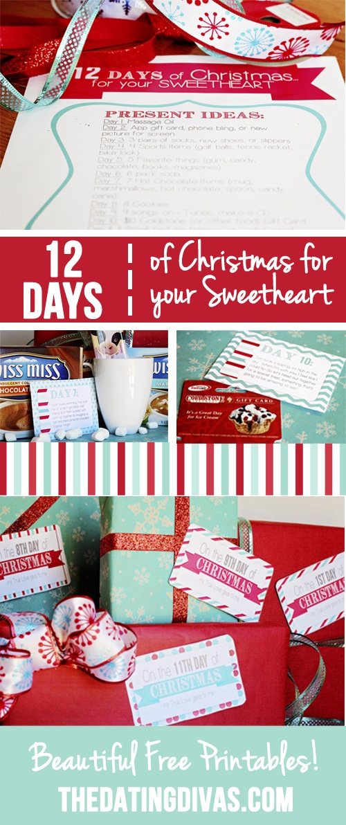 12 Days of Christmas Countdown - 12 Days Of Christmas Countdown For Your Sweetheart