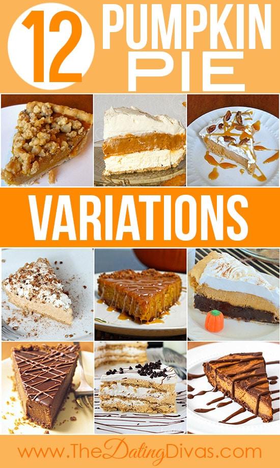 12 Pumpkin Pie Variations