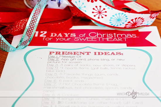 12 days of christmas present ideas