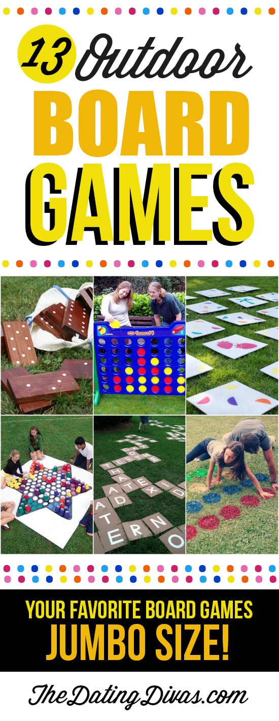 Fun Outdoor Board Games For Kids and Backyard Games