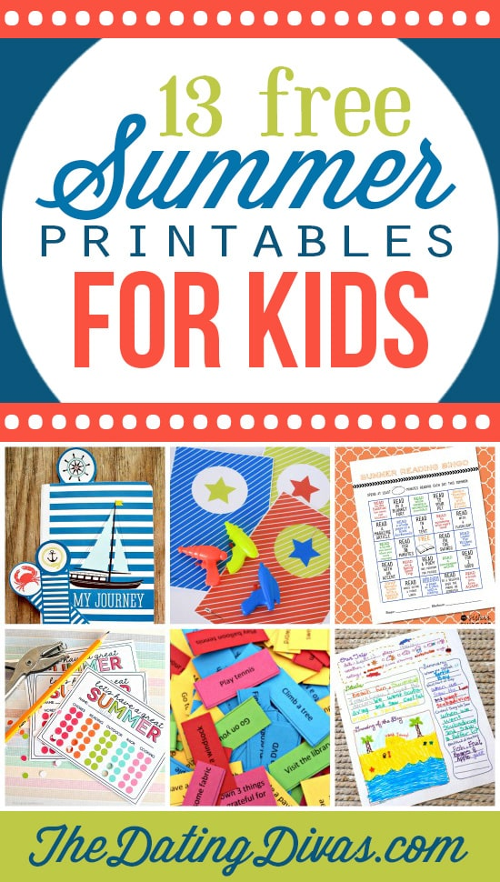 13 Awesome Printables for the Kids