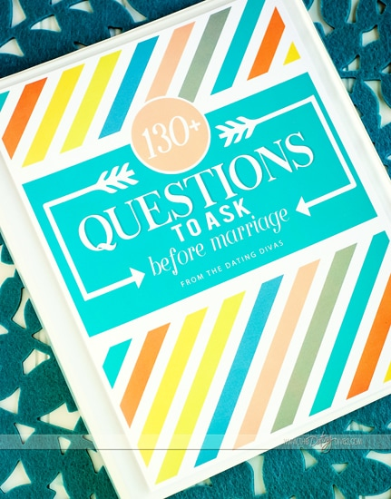 Questions to Ask before Marriage for Engaged Couples gift idea