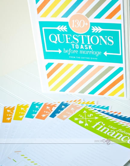 Questions to Ask before Marriage for Engaged Couples free printable