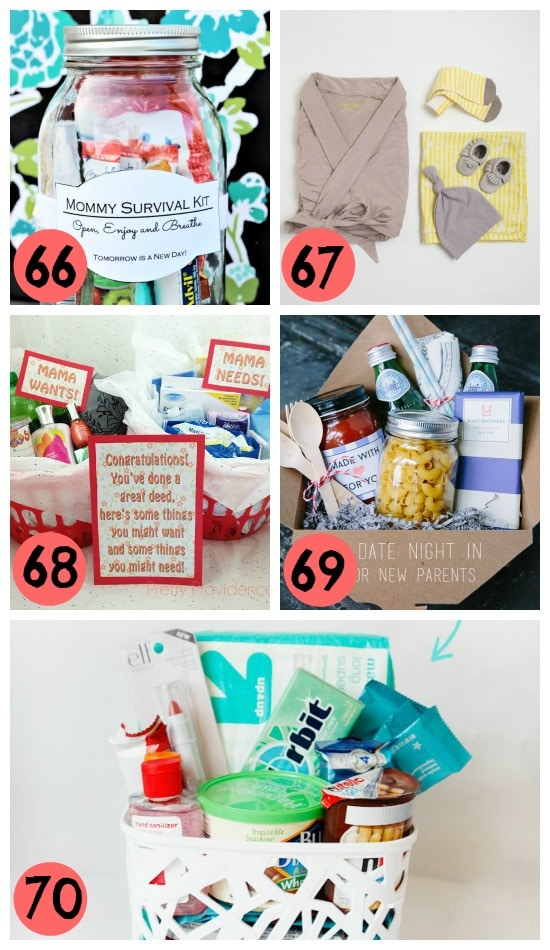 14- gifts baskets for new moms