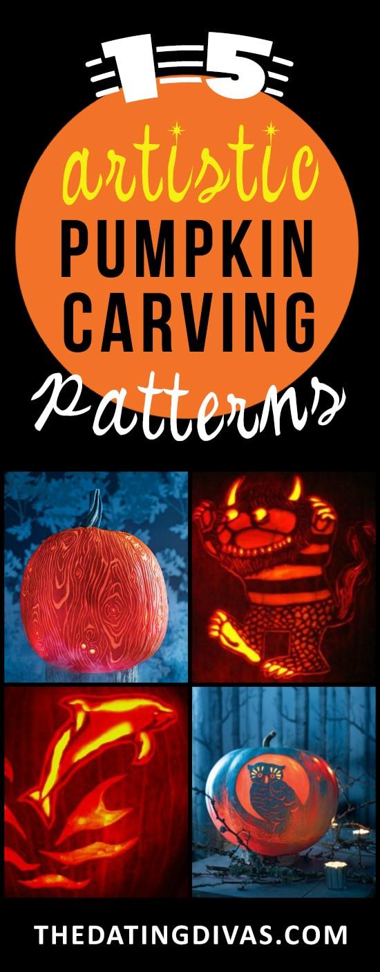 15 Creative and Artistic Pumpkin Carving Stencils