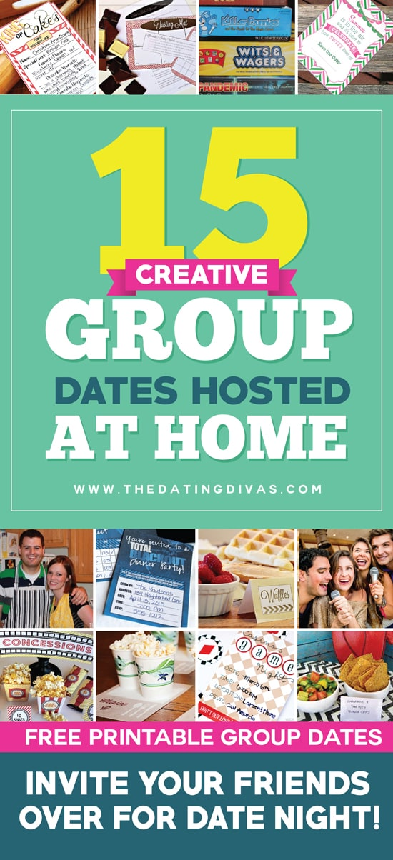 Double Date Ideas Hosted at Home (Free Printables Included)