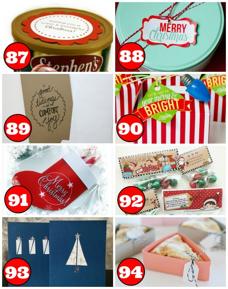 15 Christmas Cards, Tags, and Bags for Gifts