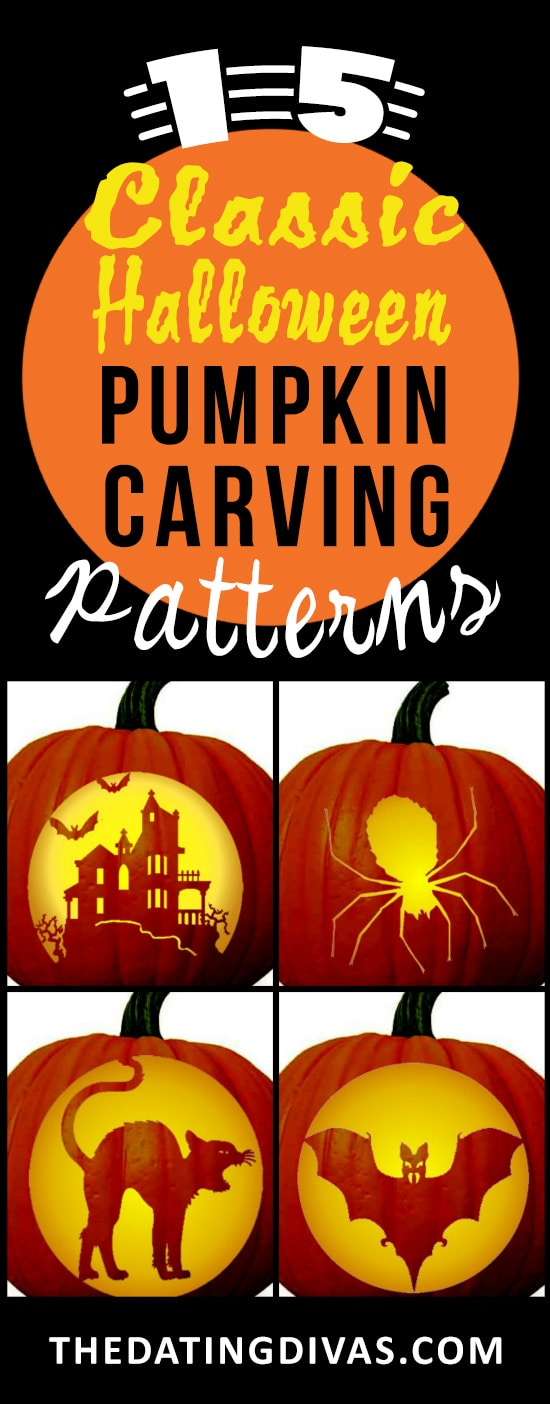 60 FREE Pumpkin Carving Patterns From The Dating Divas Stunning Pumpkin Carving Pattern