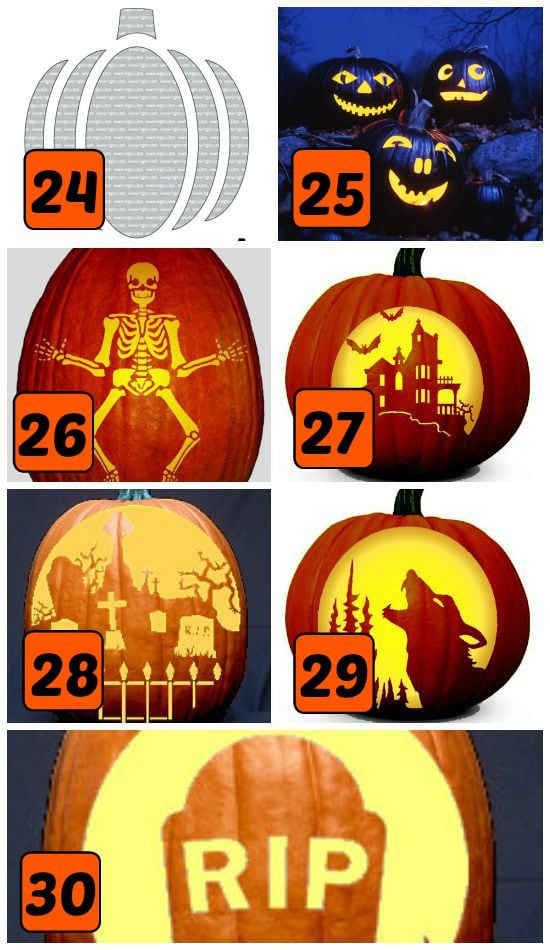 15 Classic Halloween Themed Pumpkin Carving Stencils