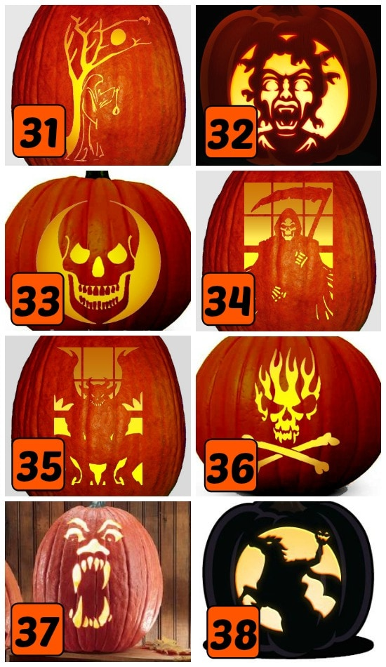 15 Scary Pumpkin Carving Stencils