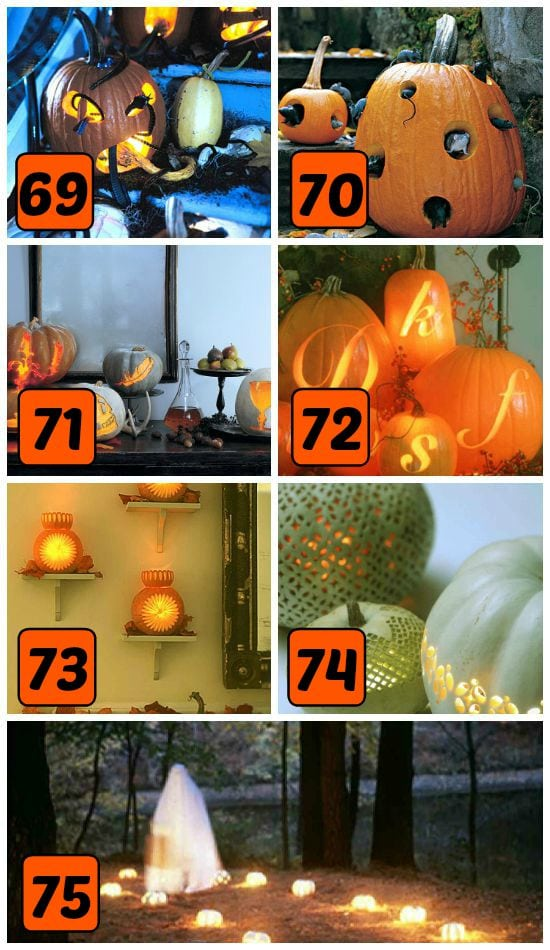 15 Fun and Creative Pumpkin Carving patterns