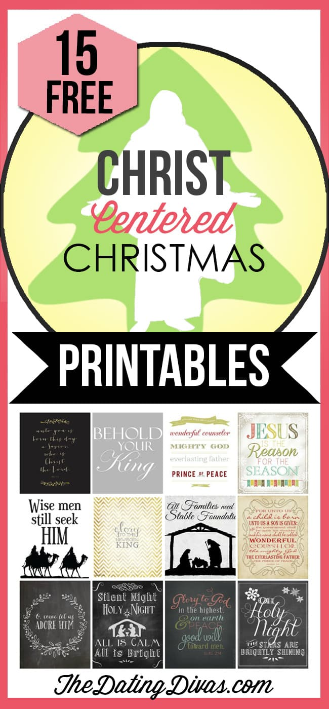 15 Free Christ-Centered Christmas Printables- An easy way to add some meaningful Christmas decor to your home