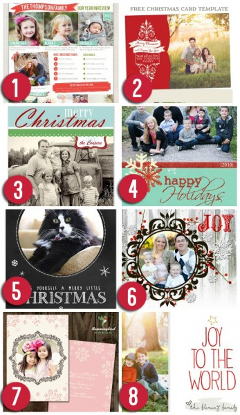 15 Free Christmas Card Templates
