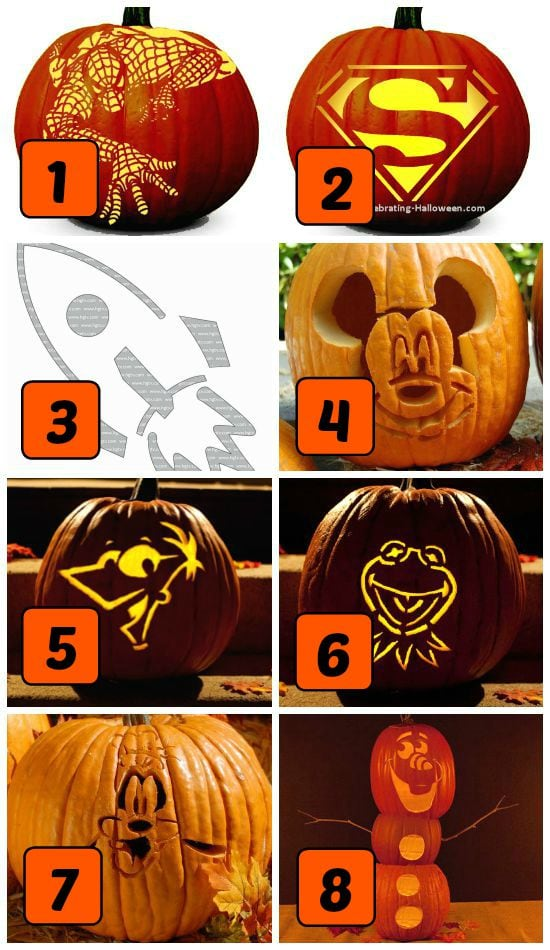75 FREE Pumpkin Carving Patterns , from The Dating Divas