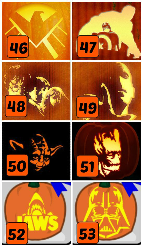 15 Movie Related Pumpkin Carving Patterns