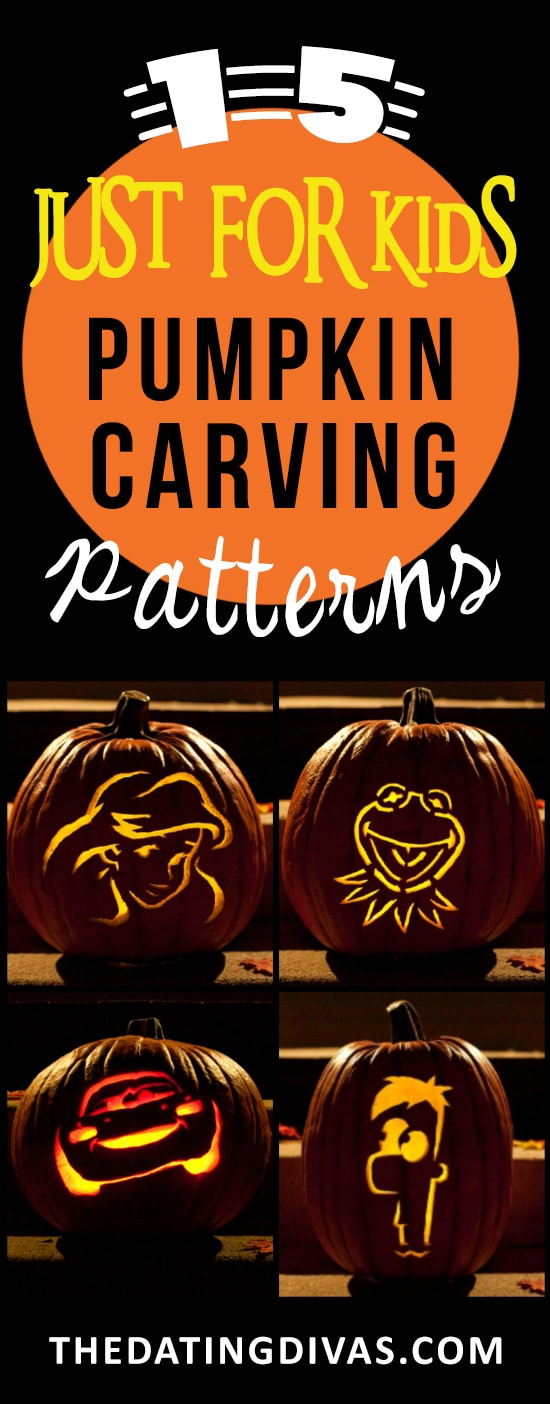 15 Kid Related Pumpkin Carving Stencils