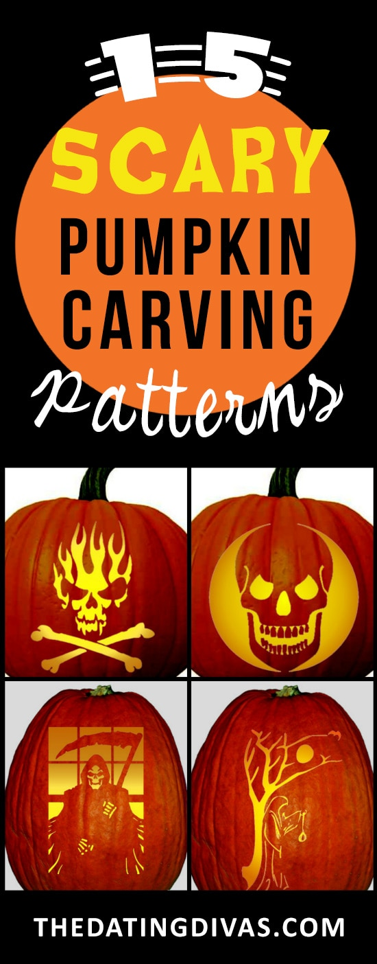 15 spooky pumpkin carving stencils - Scary Pumpkin Carving Patterns
