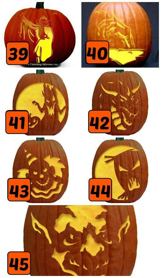 15 Spooky Pumpkin Carving Stencils