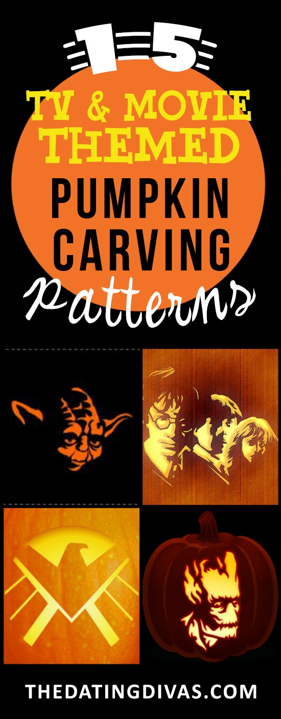 15 Movie and TV Inspired Carving Stencils