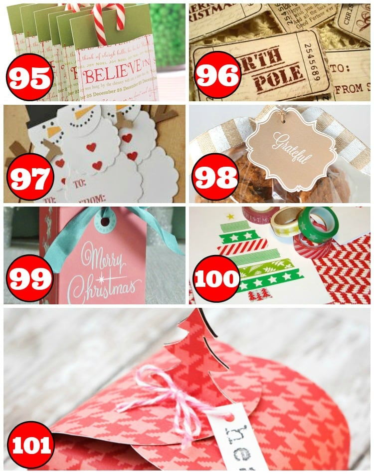 15 Bags, Tags, and Cards for Christmas Friends and Neighbor Gifts