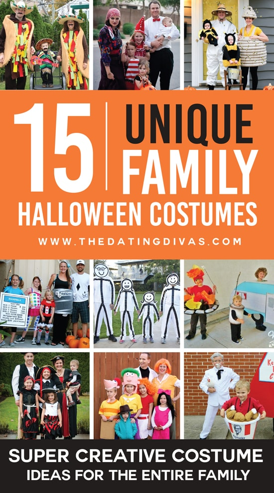 101 awesome family halloween costume ideas the dating divas for Unique childrens halloween costume ideas