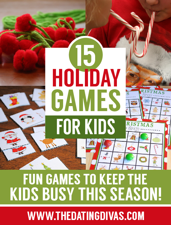 15 Christmas holiday games for kids.